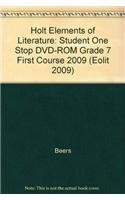 9780030947230: Holt Elements of Literature: Student One Stop DVD-ROM First Course 2009
