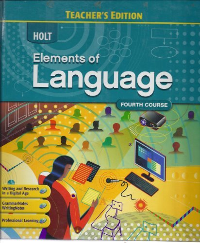 Elements of Language; Fourth Course (Annotated Teacher's: Irvin, Judith L.;
