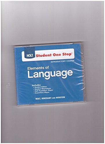 9780030947544: Student One Stop CD-ROM Holt Elements of Language Introductory Course