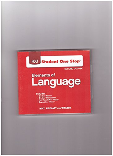 9780030947568: Elements of Language: Student One-Stop DVD 2009