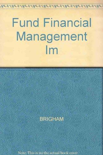 9780030948718: Fund Financial Management Im