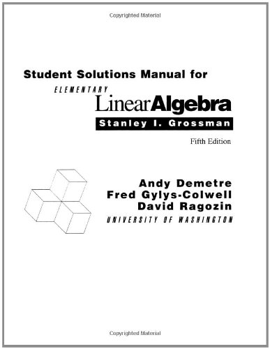 9780030948947: Student Solutions Manual for Elementary Linear Algebra