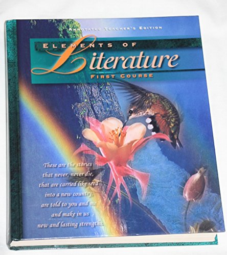9780030949241: Elements of Literature: 1st Course (Annotated Teacher's Edition)