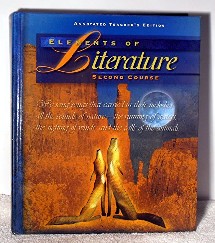 9780030949258: Elements of Literature 2nd Course Annotated Teacher's Edition