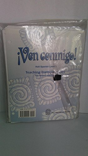 9780030949555: Ven Conmigo Teaching Transparencies Situations and Maps (Holt Spanish Level 1)