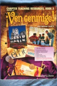 9780030950315: Ven Conmigo! Chapter Teaching Resources, Book 3, Chapters 9-12