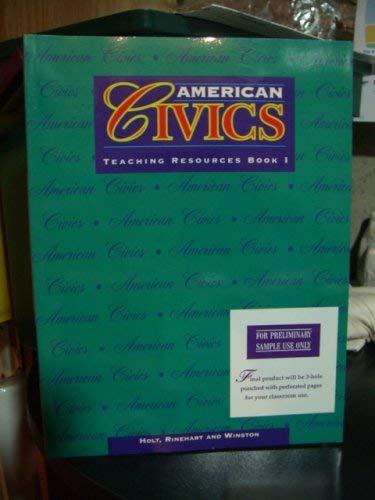 9780030950421: American Civics (Teaching Resources Book I
