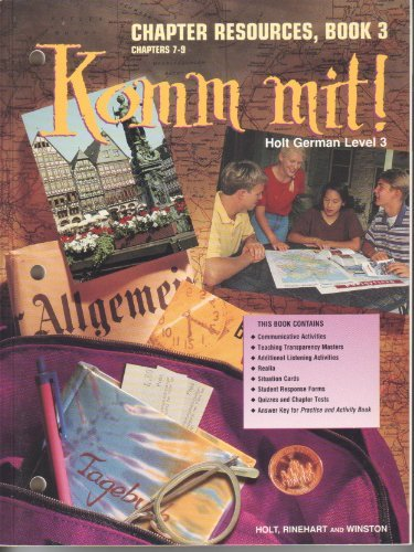 9780030950841: Holt German Level 3 Komm Mit! Chapter Resources, Book 3 Chapters 7 - 9