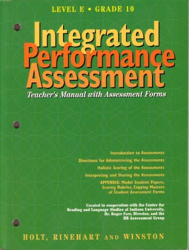 9780030951039: Integrated Performance Assessment Teachers Manual with Assessment Forms (Elements of Language Fourth Course)