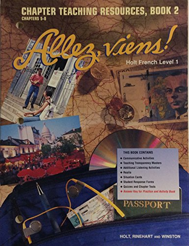 9780030951206: Allez, Viens! Holt French Level 1: Chapter Teaching Resources, Book 2 Chapters 5-8 (Paperback)