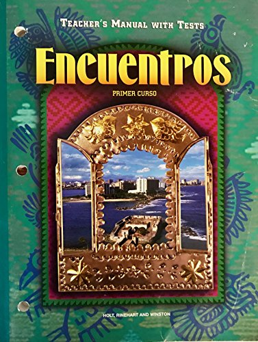 9780030951664: Encuentros, Primer Curso (Teacher's Manual with Tests)