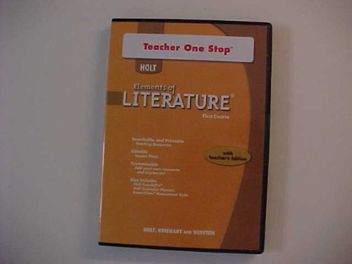 9780030952388: Holt Elements of Literature: Teacher One Stop DVD-ROM First Course