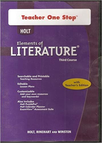 9780030952692: Holt Elements of Literature: Teacher One Stop DVD-ROM Third Course