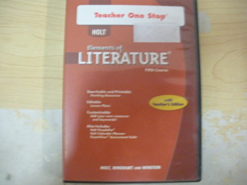 9780030952814: Holt Elements of Literature: Teacher One Stop DVD-ROM Fifth Course, American Literature