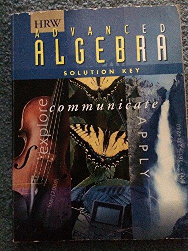 HRW Advanced Algebra Solution Key: HRW