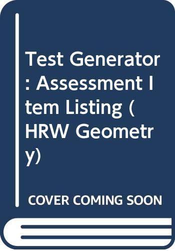 9780030953026: Test Generator: Assessment Item Listing (HRW Geometry)
