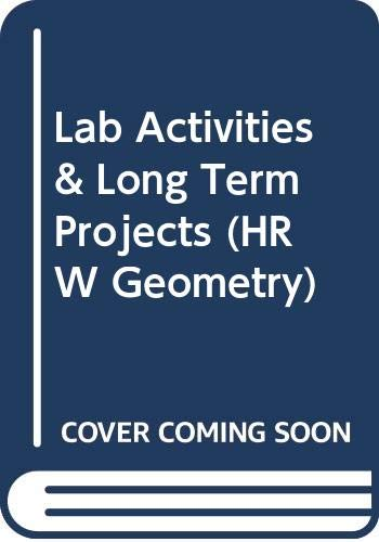 9780030953033: Lab Activities & Long Term Projects (HRW Geometry)