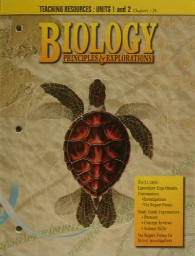 9780030953378: Biology Principles & Explorations - Teaching Resources: Units 1 and 2 (Chapters 1-10)