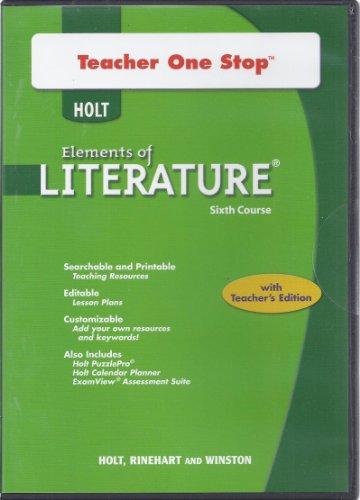9780030953590: Holt Elements of Literature: Teacher One Stop DVD-ROM Sixth Course, British Literature