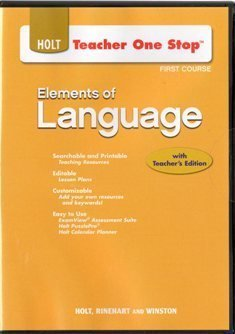 9780030953873: 2009 Holt Element of Language First Course Teacher's One Stop CD ROM
