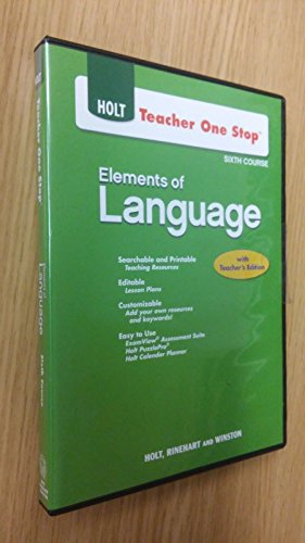 9780030953965: Teacher One Stop, 5th Course: Elements of Language with Teacher's Edition