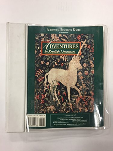 9780030954238: Adventures in English Literature Audiovisual Resources Binder. (Athena Edition) Fine Art and Instructional Transparencies with Teacher's Notes and Blackline Masters.