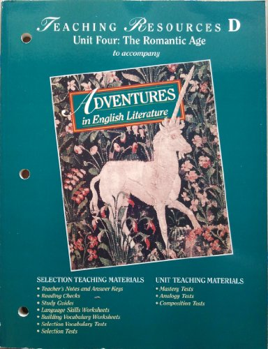 ADVENTURES IN ENGLISH LIT: Teaching Resources D (Unit 4): Holt Rinehart and Winston