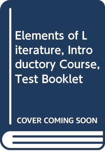 9780030955839: Elements of Literature, Introductory Course, Test Booklet