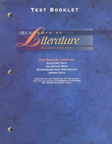9780030955853: Test Booklet Elements of Literature Second Course