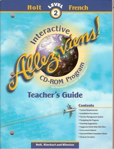 9780030956232: Allez, viens! Holt Level 2 French (Interactive CD-ROM Program Teacher's Guide)