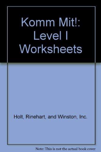9780030957130: Komm Mit!: Level I Worksheets
