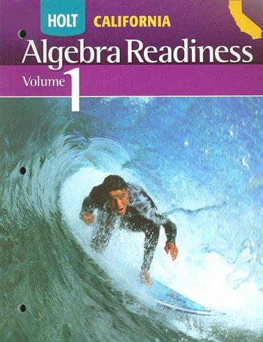 9780030958007: Holt Algebra Readiness California: Student Edition Volume 1