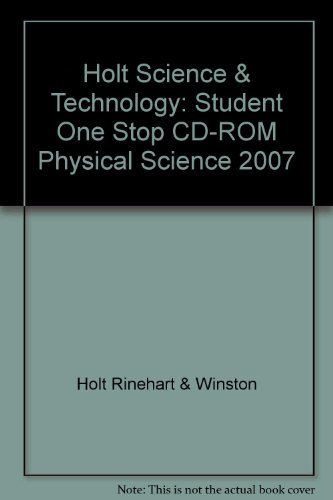 9780030958106: Holt Science & Technology: Student One Stop CD-ROM Life Science 2007