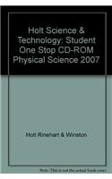 9780030958113: Holt Science & Technology: Student One Stop CD-ROM Physical Science 2007