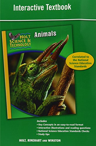 9780030958137: Holt Science & Technology: Interactive Textbook B: Animals