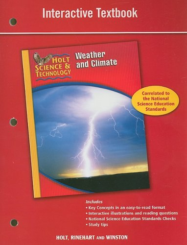 9780030958205: Holt Science & Technology: Interactive Textbook (I) Weather and Climate