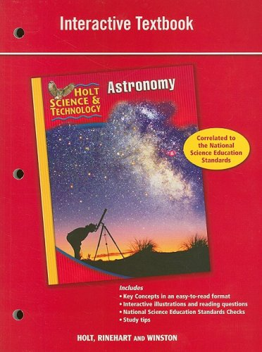 9780030958212: Holt Science & Technology: Interactive Textbook J: Astronomy