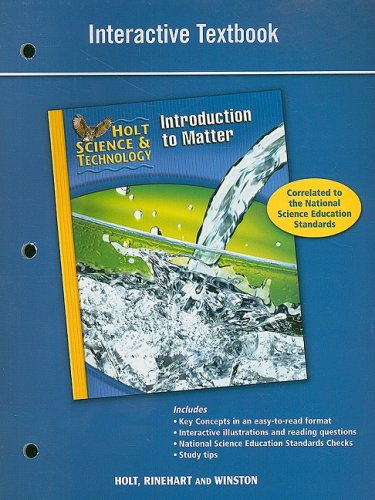 9780030958229: Holt Science & Technology: Interactive Textbook (K) Introduction to Matter