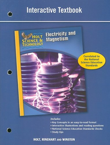 9780030958250: Holt Science & Technology: Interactive Textbook (N) Electricity and Magnetism