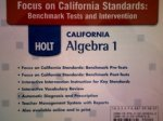 9780030958762: Focus on California Standards: Benchmark Tests and Intervention (HOLT CALIFORNIA Algebra 1)