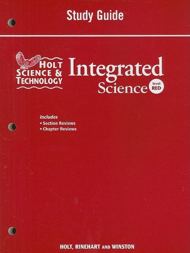 9780030959516: Holt Science & Technology: Integrated Science: Study Guide Level Red