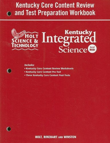 9780030959899: Holt Science & Technology Kentucky: Core Content Test Prep Workbook  Grade 7 Integrated Science