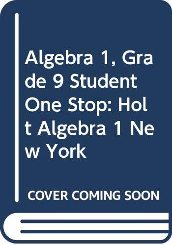 9780030961632: Holt Algebra 1 New York: Student One Stop CD-ROM 2008