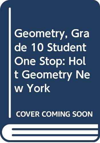 9780030961816: Holt Geometry New York: Student One-Stop CD-ROM 2008