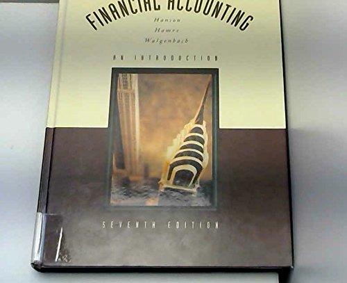 9780030961960: Financial Accounting: An Introduction (The Dryden Press series in accounting)