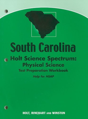 9780030962103: Holt Science Spectrum: Physical Science South Carolina: Holt Science Spectrum: Physical Science Test Preparation Workbook