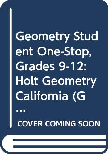 9780030962936: Holt Geometry California: Student One-Stop CD-ROM Geometry 2008