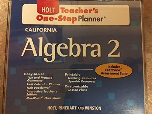 9780030963025: Holt California Algebra 2 Teachers One Step Planner Cd-rom