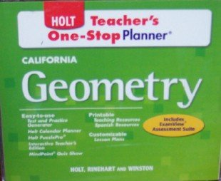9780030963063: Teacher's One-Stop Planner (California Geometry, Includes Assessment Suite)