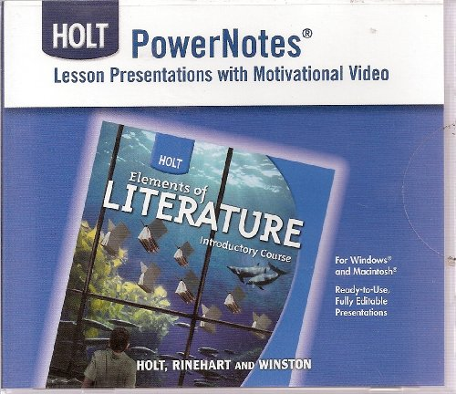 Power Notes Lesson Presentations with Motivational Video (Holt Elements of Literature Introductory Course) (0030963192) by Kylene Beers